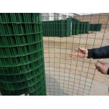 Ral-6005 PVC revestido soldado malha de arame Eurfence