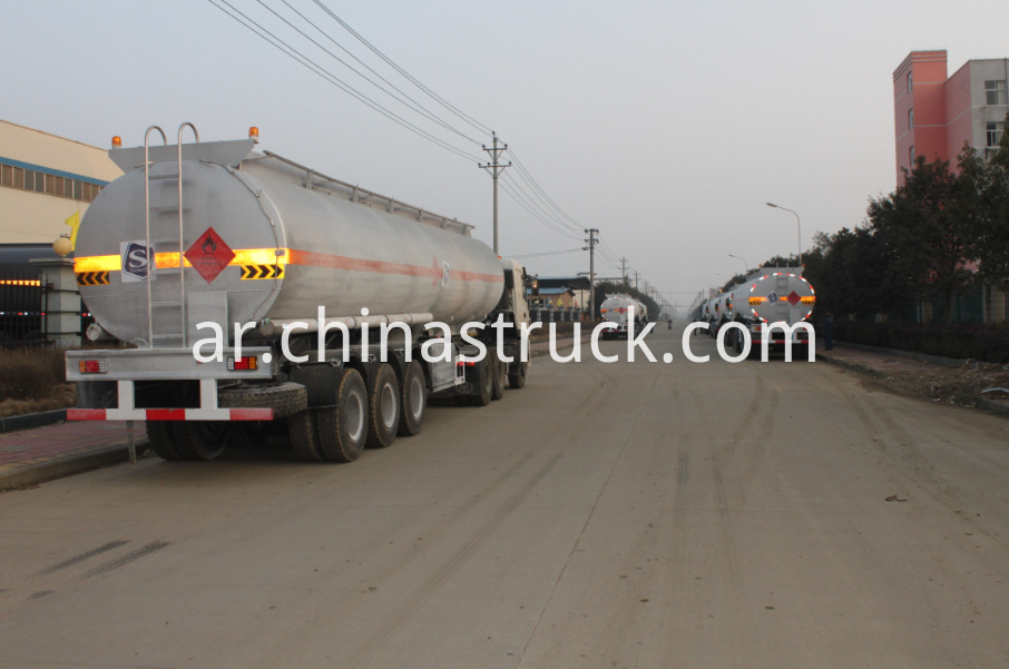 Dongte brand ADR fuel tank semi-trailer stainless steel tank