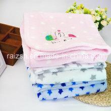 Manta de lana polar para bebés y engrosamiento Manta 80 * 100cm
