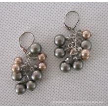 Pendiente de perla de concha en forma de uva (EP99)