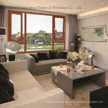 Порошковое покрытие с двойным остеклением изолированные Звуконепроницаемые окна тента алюминий (фут-W70)