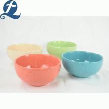 Tazón de fideos de cerámica de restaurante creativo redondo barato de alta calidad