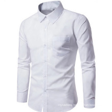 High Quality Long Sleeve Solid Male Clothing Fit Business Shirts
