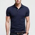 Лучшее качество темно-синий мужские однотонные рубашки поло в продаже