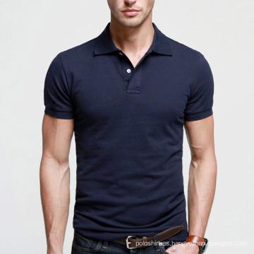 La mejor calidad azul marino hombres llano polo en venta