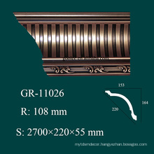 construction material PU crown moulding styles for house interior decoration