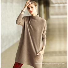 Women′s Cashmere Sweater Round Neck 16brdw006