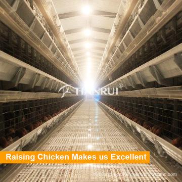Material galvanizado en caliente H Frame 5 Tiers Equipo de avicultura para colocar gallinas / capas / huevo de pollo