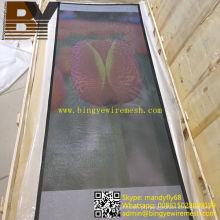 Malha de segurança de aço inoxidável para tela de porta