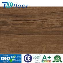 Piso de vinilo del PVC del tablón del tecleo del vinilo del efecto de madera del efecto