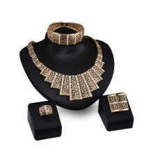Trapézio em forma de anel de pulseira mais larga brinco conjuntos de colar (c-xsst0049)