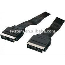 21pin Scart cable flat (male to male)