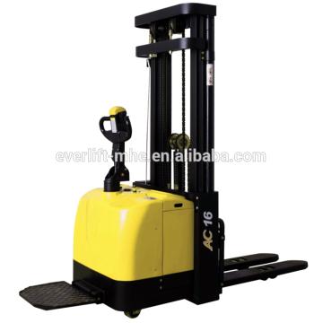 1.2ton 1.4ton 1.6ton 2.0ton Electric Stacker AC motor EPS high quality narrow legs straddle legs