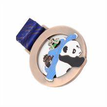 Custom made metal panda tourism medal
