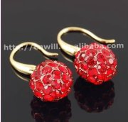 Hot Sale New Fashion Alloy Crystal Earrings Gold Earring