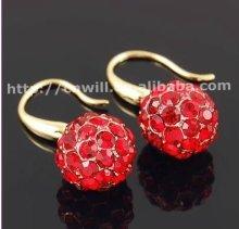 Hot Sale New Fashion Alloy Crystal Earrings Gold Earring