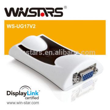Usb 2.0 Grafikadapter, USB 2.0 zu VGA Adapter, beweglicher usb Adapter