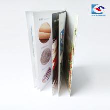 высокое качество стежком седловины смещенная печатная брошюра для ресторана