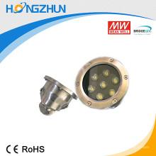 Aluminium + lampe de projecteur led en aluminium inox 201 7w rgb avec une haute preuve