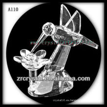 Bonita estatuilla de animales de cristal A110