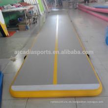 Esteras de aire inflables del piso de la primavera de la gimnasia al por mayor para el ejercicio