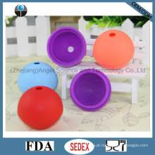 Molde do gelo do silicone & molde do pirulito & fabricante Si18 da esfera do gelo da alta qualidade