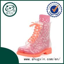 botte de pluie sexe femmes d'âge mûr rose bottes de pluie de mode B-817