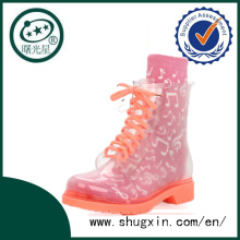 rain boot sex mature women rose pink fashion rain boots B-817