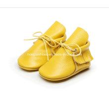 Cuero de cuero para niños pequeños zapatos