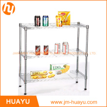 Heavy Duty Homeware 60L X 45W X 70h 3-Tier Wire Steel Shelving Adjustable Rack Storage Shelf