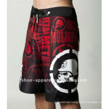 Men microfiber fashion full print mma shorts