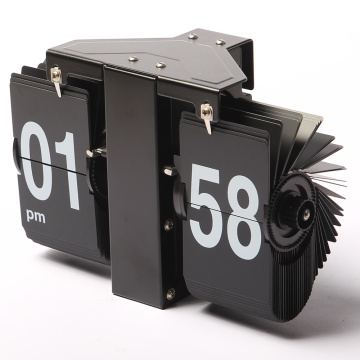 Mini reloj Flip negro para decoración de pared