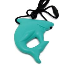 Low+Price+High+Quality+Chewable+Shark+Silicone+Pendant