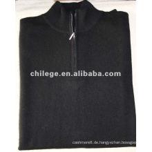 Rollkragenpullover aus 100% Kaschmir-Schwarz