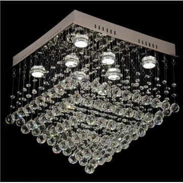 lampu chandelier kristal borong moden