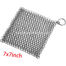 Stainless steel rantai mail pot scrubber mesh