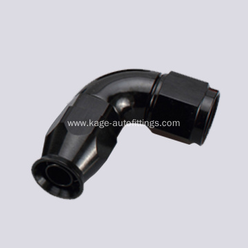Full flow swivel hose end