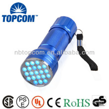 2014 professional 21 led uv flashlight torch