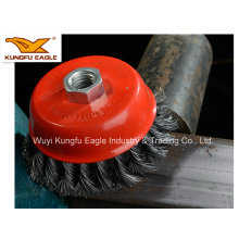 4 Inch 100mm Heavy Duty Wire Crimped Cup Twisted Brush