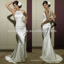 NN-170 Sexy Halter Lace Bodice Sheath Wedding Dress/Bridal Gown