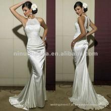NN-170 Sexy Halter Lace Bodice bainha vestido de noiva / vestido de noiva