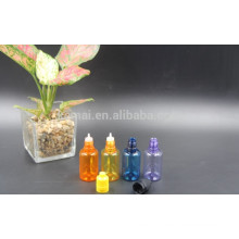 Frasco de cor de óleo PET de 30 ml com tampa de rosca de pressão