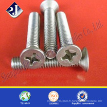 Vente en gros de vis en acier inoxydable en acier inoxydable 201machine screw machine screw