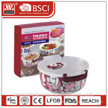 Vacuum Microwavable Freshness Preservation Porcelain Food Container