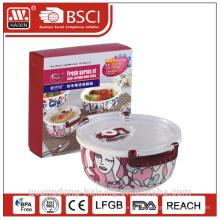Recipiente de alimento do vácuo frescor Microwavable preservação da porcelana