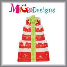 Hot Selling Christmas Tree Design Ceramic Plate and Dish
