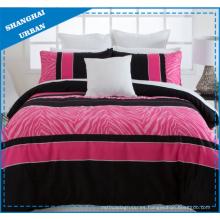 Pink Animal Prints Juego de sábanas de edredón de poliéster