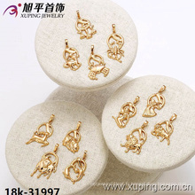 31997 Xuping bijoux fantaisie plaqué or Douze constellations pendentif
