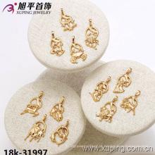 31997 Xuping moda jóias banhado a ouro Doze constelações pingente