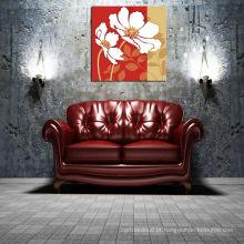 Vermelho, fundo, grande, flor, lona, impressão, MDF, tábua